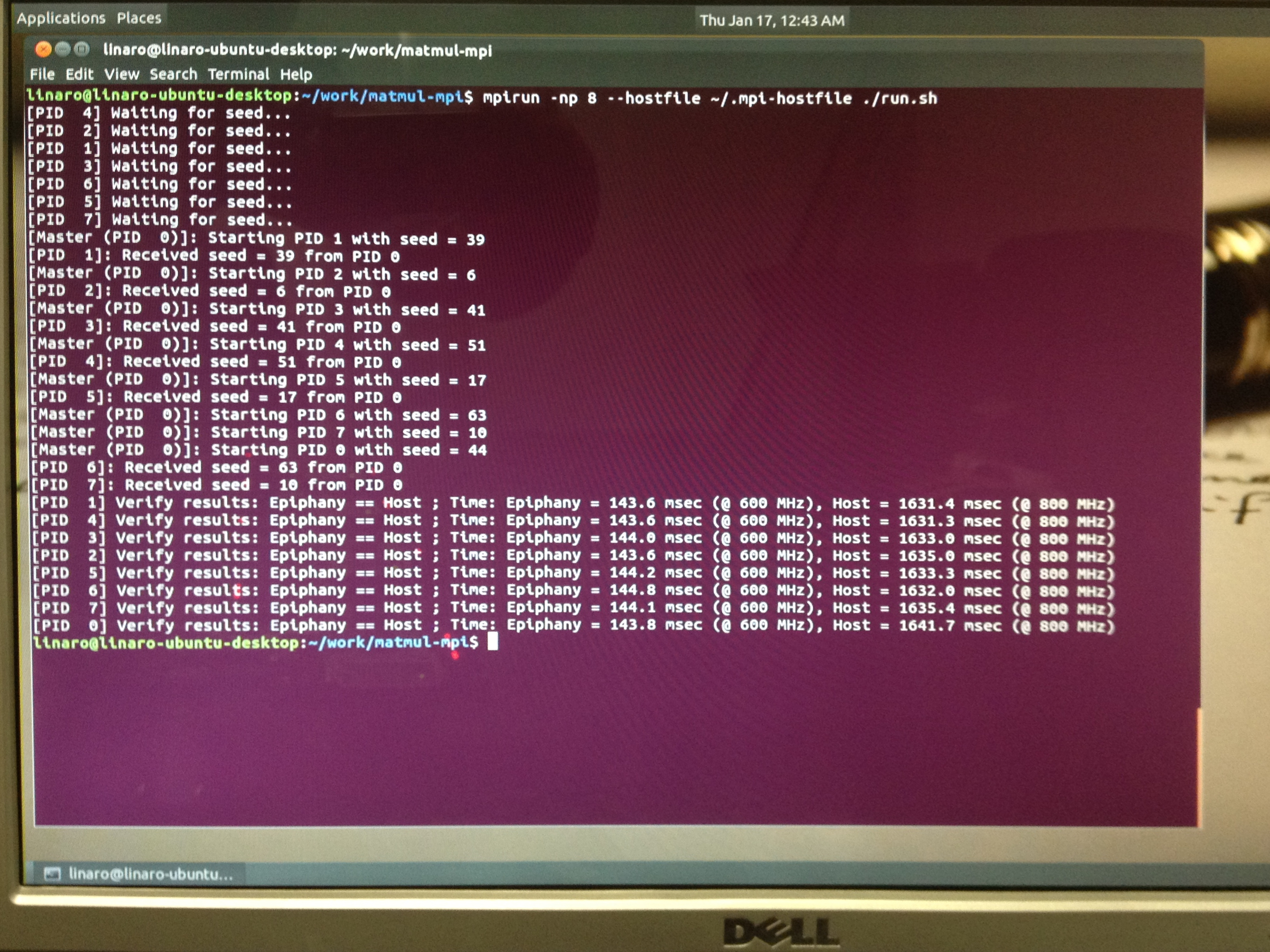 Building the World's First Parallella Beowulf Cluster – AI